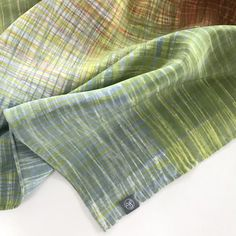 Multi-Coloured Silk Scarf: Handprinted with original image 0