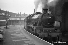 "Built by North British in 1934 for LMS,"" Abandoned Train, Steam Railway, Steam Engine, Steam Locomotive, Preston, North West, Great Britain, Past, Engineering"