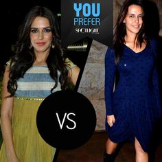 Time for a Face-Off!  #NehaDhupia with or without make-up? Take your pick.