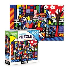 As both a puzzle junkie and lover of pop art, I'm totally digging these puzzles! By Britto