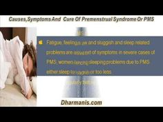 This video describes about symptoms and natural remedies of premenstrual syndrome or PMS. You can find more details about Gynex capsule at http://www.dharmanis.com