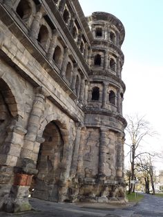 The Porta Nigra (Latin for black gate) is a large Roman city gate in Trier, Germany. It is today the largest Roman city gate north of the Alps and has been designated a World Heritage Site.
