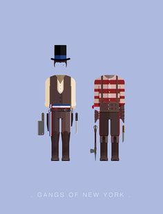 Gangs of New York (2002) ~ Minimal Movie Poster by Frederico Birchal ~ Costume Series #amusementphile