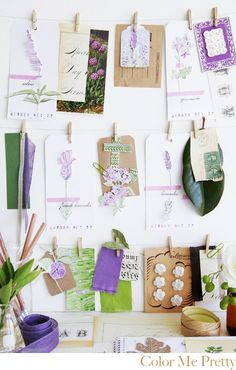 This makes me want to do more water coloring! {Cute clothesline for sketches or pictures}