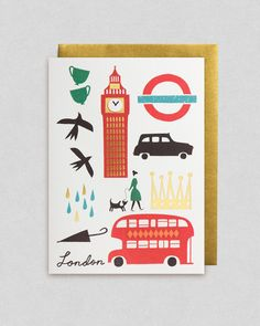 London greeting card by Debbie Powell | Lagom Design