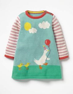 Discover our standout range of girls' dresses at Boden. Choose from comfy jersey styles for every day to extra-special party dresses for ages 0 to 16 years. Creative Knitting, Knitting For Kids, Baby Knitting Patterns, Baby Patterns, Knitted Jackets Women, Fingerless Gloves Knitted, Baby Cardigan, Cute Outfits For Kids, Knit Jacket