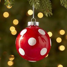 Red Polka-Dot Ball Ornament - Pier 1 Imports