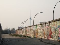 "Berlin Wall by the river -  AKA ""The East Side Gallery""...the coolest part of the massive city."