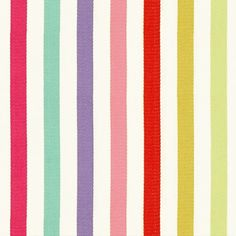 Gumdrop Stripe Fabric A fresh versatile fabric with a mid scale vertical stripe design woven in ivory and multi-colours.