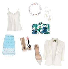 """""""Summer in the office"""" by shorouq-dahiyat on Polyvore featuring Gianvito Rossi, Kendra Scott, Marc Jacobs and Jolie Moi"""