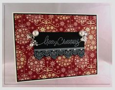Card designed by Carolina Buchting for Gina K. Designs using the Season's Greetings StampTV Kit