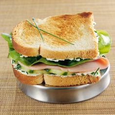 Croque-mademoiselle (Weight Watchers) - Kita Y. Ww Recipes, Light Recipes, Cooking Recipes, Baguette, Weight Watchers Lunches, Brunch, Healthy Snacks, Healthy Recipes, Sandwiches
