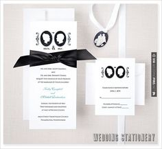 Fantastic - Wedding Stationery by Exclusively Weddings | CHECK OUT MORE GREAT BLACK AND WHITE WEDDING IDEAS AT WEDDINGPINS.NET | #weddings #wedding #blackandwhitewedding #blackandwhiteweddingphotos #events #forweddings #iloveweddings #blackandwhite #romance #vintage #blackwedding #planners #whitewedding #ceremonyphotos #weddingphotos #weddingpictures