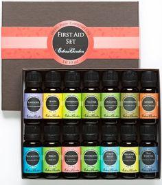 Amazon.com: First Aid Essential Oil Set- 100% Pure Therapeutic Grade Oils- 14/ 10 ml of Lavender, Lemon, Peppermint, Tea Tree, Oregano, Fran...