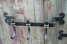 blacksmithed coat rack $135