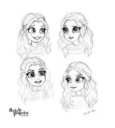 Bocetos sobre #SoyLuna Cómics! Luna Valente!!! Mi favorita para dibujar a causa de los gestos, mi