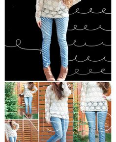 DIY Clothes Refashion • Clothes Casual Outift for • teens • girls • women •. summer • fall • spring • winter • outfit ideas • dates • school...