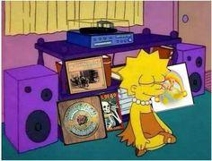Lisa Simpson enjoying some good ol' Grateful Dead.