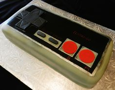 NINTENDO CAKE! Guiness cake with Bailey's frosting. It's like drinking while reminiscing of good times.