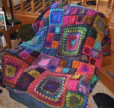 Gorgeous blanket in Noro yarn