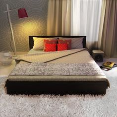This king bed is differently designed. You'll love it! This is a stylish #KingBed with a intelligent storage solution.