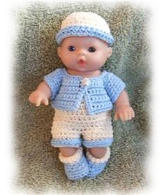 Ravelry: Little Boy Summer Sweat Set for 5 inch Berenguer Doll pattern by Amy Carrico