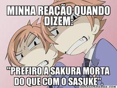 Eu shippo mais a sakura com o naruto mais não tenho nada contra sakura e sasuke