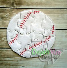 Baseball or Softball Felt Puzzle and many more items are available for purchase at https://www.etsy.com/shop/SchoolhouseBoutique