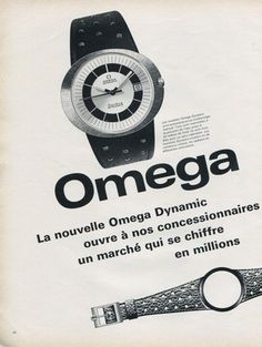 1969 Omega(1/2) Vintage Omega, Vintage Rolex, Vintage Watches, Modern Watches, Luxury Watches, Watches For Men, Omega Dynamic, Watch Drawing, Art Deco Watch
