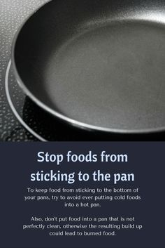 Cooking Tip: How to stop food from sticking to the pan Cold Meals, Mediterranean Recipes, Cooking Tips, A Food, Make It Yourself, Simple, Boards, Awesome, Check
