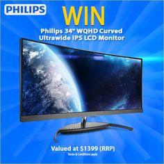 "Win a Philips BDM3490UC 34"" WQHD Curved Ultrawide IPS LCD Monitor @MwaveAu https://wn.nr/NUA8sJ (14/08) #Giveaway #Contest #Sweepstakes"