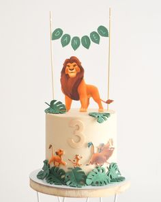 Simple Lion King cake by on IG Jungle Theme Birthday, Lion King Birthday, 1st Birthday Party Themes, Dinosaur Birthday, 1st Birthday Girls, Lion Guard Birthday Cake, Lion King Theme, Lion King Party, Lion King Cakes
