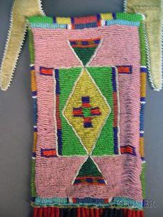 Northern Plains Beaded Hide Mirror Bag | Sale Number 2408, Lot Number 228 | Skinner Auctioneers