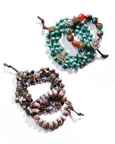 Bead Bracelets by Love Heals at Neiman Marcus.