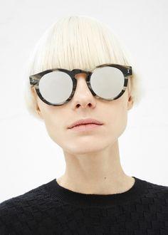 12dbfd572a7 Illesteva Leonard Sunglasses (Marmor   Silver Mirror) RAYBANS  SUNGLASSES   Discount Sunglasses