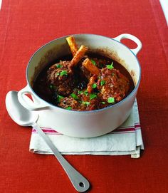 Moroccan spiced lamb shanks with preserved lemon, prunes and saffron