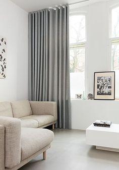Unusual Home Curtain Ideas For Interior Design - Aksa. Dining Room Curtains, Home Curtains, Ceiling Curtains, Room Color Schemes, Room Colors, Home Room Design, Decor Interior Design, Curtains For Bifold Doors, Farmhouse Interior
