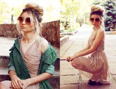 Asos Glasses, River Island Dress, Clep Coat