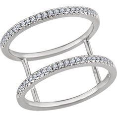 14kt White 1/5 CTW Diamond Freeform Ring | Stuller