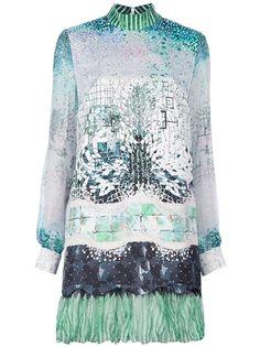Piccione.Piccione Fantasy Print Blouse Dress