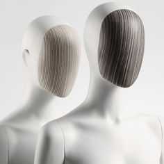 Window Mannequins - colorful face