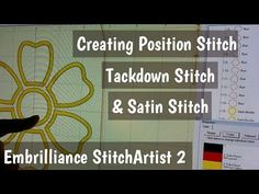 Digitizing a Position Stitch - Tack Down Stitch & Satin Stitch from an SVG Embroidery Digitizing, Dream Machine, Satin Stitch, Tack, Shout Out, Printing On Fabric, Machine Embroidery, Software, Applique
