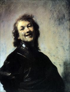 Rembrandt Laughing (Self-Portrait) 1628 Oil on Copper