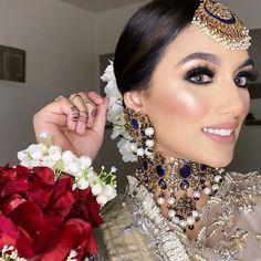 Asian Wedding Makeup, Pakistani Bridal Makeup, Pakistani Fashion Party Wear, Pakistani Bridal Dresses, Hijab Fashion, Indian Makeup Looks, Makeup Eye Looks, Wedding Looks, Wedding Wear