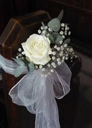 Weddingpewvintagedeorations and black church pew bows bows image result for single flower pew end decorations pew bows for weddingchurch junglespirit Choice Image