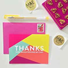 Nothing brighter than magenta + metals from stationery brand Matrick and Eve!