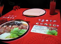 Interactive table ordering system - menu at Inamo by Secondstory - What an awesome idea!