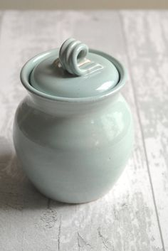 Lidded Pot - Garlic Keeper - Salt Pig - Sugar Bowl - Ready to Ship