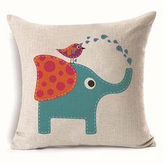 Technics: WovenShape: SquareUse: Decorative,Seat,ChairStyle: Plainis_customized: YesModel Number: Elephant Cushion CoverMaterial: Linen / CottonBrand Name: ISIN
