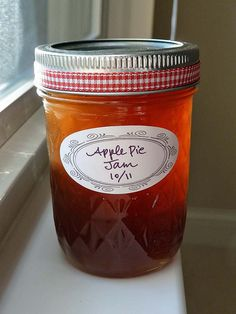 Apple pie jam is perfect for the first snow of the year!